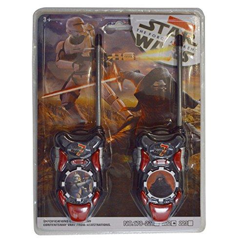 Star Wars The Clone Wars Trooper Serie batteriebetrieben Walkie Talkie Spielzeug-Set Hohe Reichweite für Outdoor/Indoor-Umgebung einfach-Design, ideal Spielzeug für und Junge Kind Kinder