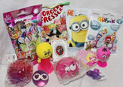 Unbekannt 110103 12 Mitgebsel Geschenke für Mädchen oder Füllung Adventskalender mit Blindbags Playmobil Minion Sorgenfresser Einhorn