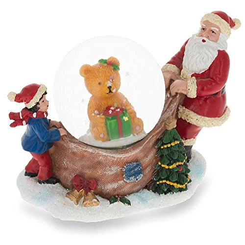 ening a Teddy Bear Gift Miniature Snow Globe ()
