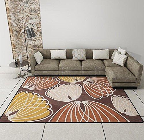 Baumwolle Traditionellen Stuhl (Indoor Modern Shag Bereich Seidig Glatte Teppiche Flauschige Teppiche Bereich Teppich Esszimmer Home Schlafzimmer Teppichboden Matte , orange , 160*230cm)