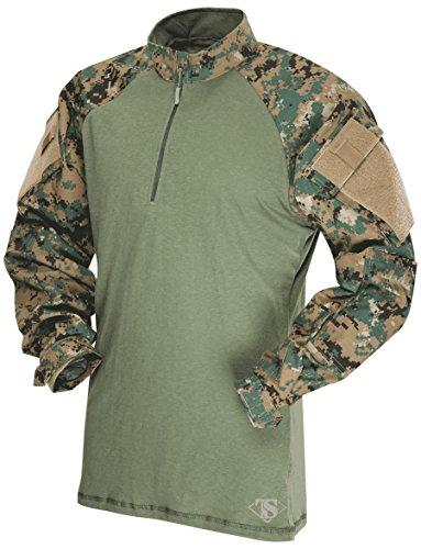 Tru Spec Olive Drab (Tru-Spec Combat 1/4 Zip Multicam T-Shirt, Herren, TS2569 Woodland Digital-Olive Drab 3XL, grün (Woodland Digital/Olive Drab), XXX-Large)