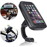 Support Etanche Téléphone, Ubegood Support Moto to du Guidon Universel Réglable Support de Téléphone sur Vélo & Moto, Rotation à 360 °pour iPhone 6/ 6S SE 5S, etc (4,7 pouces)