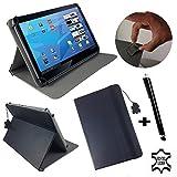 Tablet-Schutzhülle für Archos Core 101 3G V2-25,7 cm (10,1 Zoll), Echtleder, Standfunktion, Schwarz
