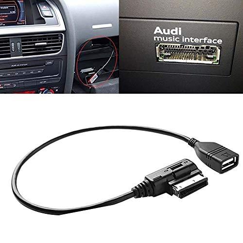 NAttnJf Interfaccia Music Car da 27 cm AMI MMI AUX a USB Adapter Audio Connect Cable Cord per Audi Black