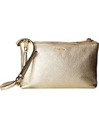 Calvin Klein Womens Angelina Pebble Crossbody