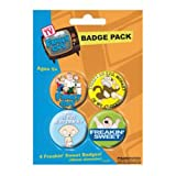 FAMILY GUY - BADGE PACK - PACK OF 4 X 38MM BADGES - BRAND NEW