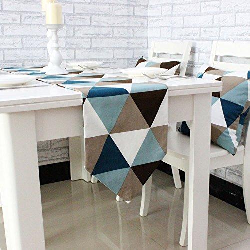 Bordeaux-kaffee-tisch-set (Qinqin666 Tischläufer Sinn für Mode der luxuriösen minimalistischen Stil Tisch Läufer Tischfahne Fahne Blauer Kaffee 30x240cm)