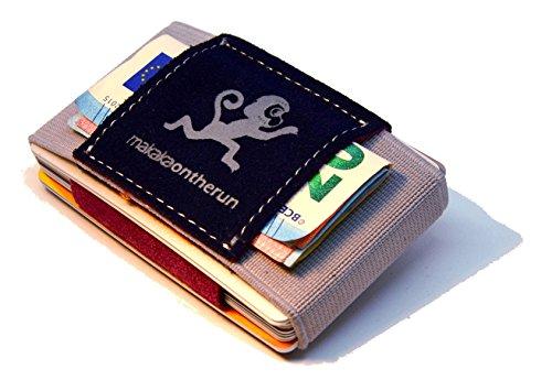 (Premium Slim Wallet & Kartenetui mit Geldklammer – Mini Portemonnaie für Herren & Damen - Kleine Geldbörse, minimalistischer Geldbeutel - Top Grain Leder)