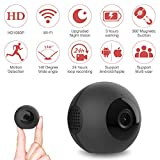 Mini Überwachungskamera, Mica House 1080P / 720P drahtlose tragbare Action-Kamera Motion Detection und IR-Nacht-Version kompakte Indoor/Outdoor-Camcorder16GB (Unterstützung bis zu 64 GB) (schwarz)