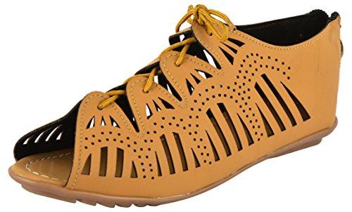 SHOE SPLASH Tan Fashion Sandals Shoes Footwear For Women's And Girls - 4 UK