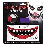 Creepy Big Mouth Creepy Clown Make-up-Set Erwachsene Halloween ES Fancy Dress Zubehör für Kostüm