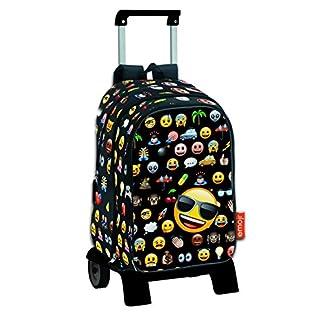Emoji Icon – Mochila de bolsillos intercambiables emoticonos con carro extraíble plegable