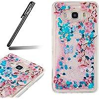 Copertura Morbido per la Samsung Galaxy J5(2016),Ukayfe Modello TPU Silicone Gel Custodia Case Cover Soft (Fiore Scatola Del Movimento)
