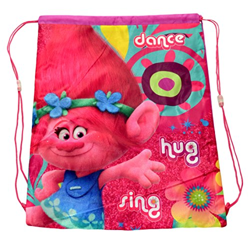 Dreamworks Kids Trolls Poppy Back Shoulder Shoe Gym PE School Drawstring Bag