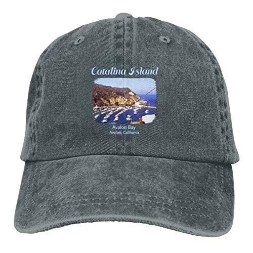 Catalina Island, Avalon Bay California Adjustable Sport Jeans Baseball Golf Cap Hat Unisex Style