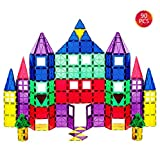 Bloques de construcción magnéticos 3D 90 Piezas, Azulejos de construcción con folleto de guía y Caja de Almacenamiento, Juguetes de construcción de Juguetes para niños Mayores de 3 años (90 pcs)