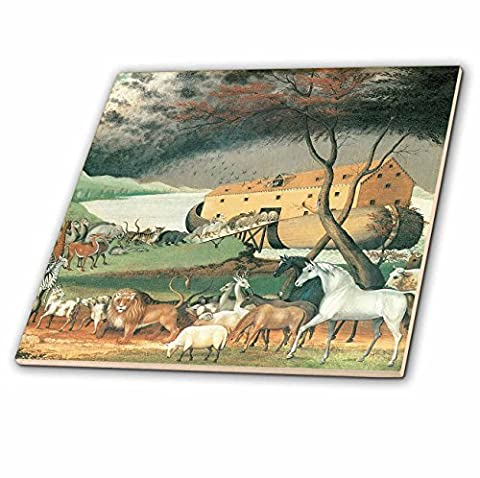 3dRose ct_126877_2 Noahs Ark by Edward Hicks American Art Ceramic Tile, 6-Inch