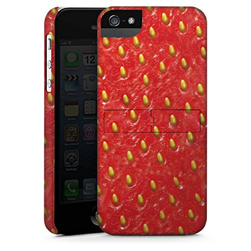 Apple iPhone 5 Housse étui coque protection Fraise Strawberry Strawberry CasStandup blanc