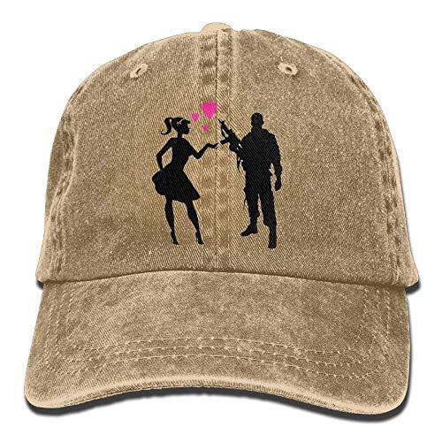 Aoliaoyudonggha Love Denim Baseball Caps Hat Adjustable Cotton Sport Strap Cap for Men Women