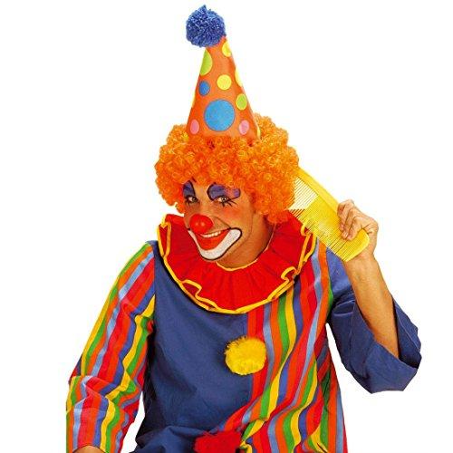 Friseur Kostüm - NET TOYS Riesen Clown Kamm Bunter Haarkamm gelb Großer Damenkamm Maxi Frisierkamm Retro Styling Comb Riesenkamm Friseur Kostüm Accessoire