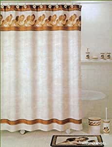 Melife Vintage Style Western Pattern Shower Curtains Bath Curtains