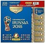 Panini WM Russia 2018 - Sticker - Starterset mit Album und 10 Tüten - deutsche Ausgabe