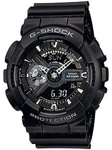 Casio Herren Armbanduhr G-Shock GA-110-1BER Stoppfunktion 1/1000 Sek 100 Std Split Kunstharz GA-110-1BER