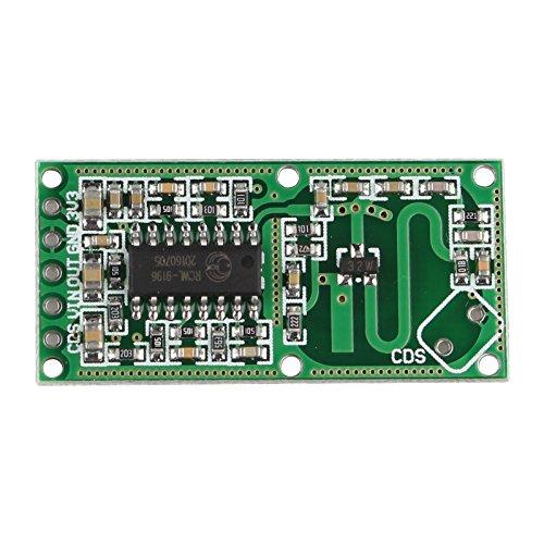 Haljia Rcwl-0516micro-ondes Radar détecteur de mouvement module module de commutation du corps humain Induction haute sensibilité pour Arduino, longue distance de détection, grand angle de détection pour la détection d'objets en mouvement