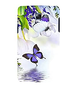 printtech Butterfly Flower Animated Back Case Cover for Samsung Galaxy J1::Samsung Galaxy J1 J100F