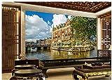 Mural De Papel Tapiz 3D Venecia Hotel Hd Vacaciones Seda Paño 200X140cm
