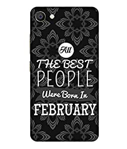 Print Opera Hard Plastic Designer Printed Phone Cover for Vivo X7 All Best People are Born in February