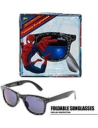 Marvel Spider-Man Foldable Kids Children Boys Sunglasses With 100% UV Protection UV Shielding Sunglasses Black
