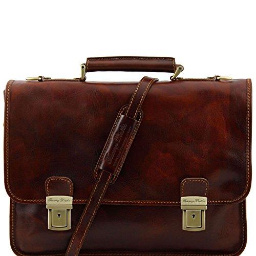 Tuscany Leather - Firenze - Aktentasche aus Leder 2 Fächer Braun - TL10028/1 Braun