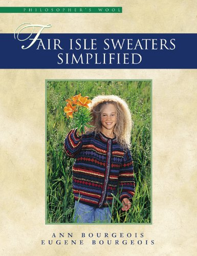 Fair Isle Sweaters Simplified (English Edition) (Crochet Knit Cardigan)