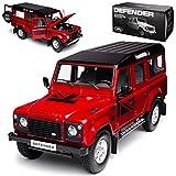 Dorlop Land Rover Defender 110 Rot Linkslenker 5 Türer 1/18 Century Dragon Modell Auto