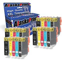 20x Compatible Cartuchos de tinta para CLI-521 & PGI-520 Alta Capacidad con Canon Pixma IP-4700 MP-540 MP-550 MP-640 IP-3600 MP-560 MP-620 MP-630 MP-638 MP-980 IP-4600 Ip-4600xI MX-860 MX-870 (4 Grande Negro,4 Pequeña Negro,4 Cian,4 Magenta,4 Amarillo)