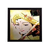 #4: eCraftIndia Legendry Lord Krishna Satin Matt Texture UV Art Painting