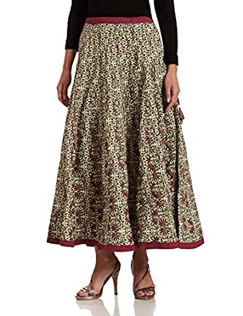 BIBA Women's Skirt (BOUGAINV12591_off-white_34)