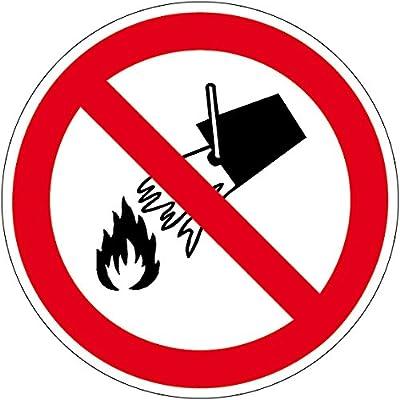 Verbotszeichen - Mit Wasser löschen verboten - Selbstklebende Folie