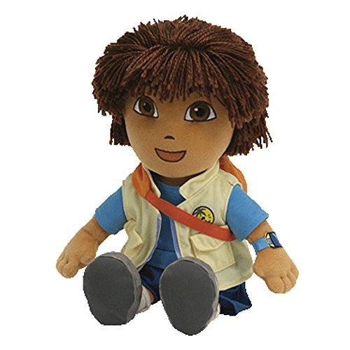 "Dora the explorer - Diego Plush - Go Diego Go - Ty Beanie - 20cm 8"""
