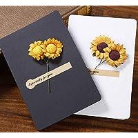 BC Worldwide Ltd cartolina d'auguri girasole secco compleanno festa della mamma festa del papà regalo di nozze anniversario laurea di San Valentino grazie simpatia guarire