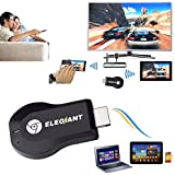 ELEGIANT Mini Wireless HDMI Adapter WLAN Dongle Empfänger 1080P Anzeige WiFi Miracast DLNA TV Display Receiver Empfänger Airplay HDMI Media für HDTV Smart Phones Notebook Tablet PC
