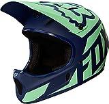 Fox Herren Rampage Race Helm, Navy/Light Blue, XL