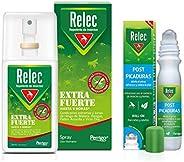 Pack Ahorro antimosquitos Relec Extra Fuerte + Relec Post-Picaduras, Spray repelente de mosquitos, Con eficaci