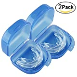 Grinigh 2018 Upgraded Anti Snoring Aids Mouth Guard Snore Reducing 2 Pack for Natural and Comfortable Sleep