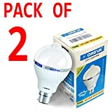 #8: 10w OREVA COOL WHITE LED BULB LAMP WITH SENSOR AUTO ON-OFF B22D (Pack of 2)