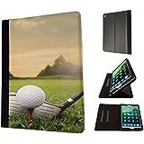 "002489 - Golf Ball Sport Field View Shot Design Apple ipad Pro 12.9"" 2015 Fashion Trend TPU Leder Brieftasche Hülle Flip Cover Book Wallet Stand halter Case"