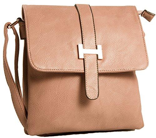Big Handbag Shop, Borsa a spalla uomo One Pale Pink