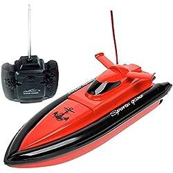 PYRUS F1 de alta velocidad RC barco de control remoto eléctrico barco-rojo (sólo funciona en el agua)