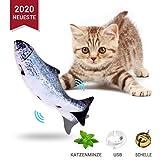 Odizli Neueste Katzenminze Fisch Spielzeug für Katze, Elektrische Katze Wagging Fisch Haustier Interaktives Spielzeug, Realistische plüsch Simulation elektrische spielzeugfische Geschenk